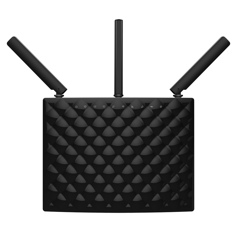 Tenda AC15 Dual-band (2.4 GHz / 5 GHz) Gigabit Ethernet Black wireless router