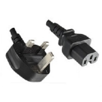 Microconnect BS-1363/C15, 2 m power cable Black BS 1363 C15 coupler