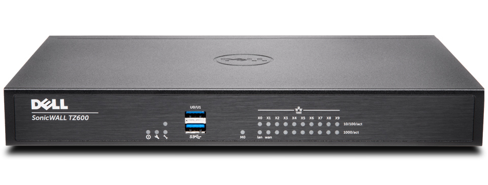 SonicWall TZ600 cortafuegos (hardware) 1500 Mbit/s
