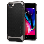 "Spigen Neo Hybrid Herringbone mobiele telefoon behuizingen 11,9 cm (4.7"") Hoes Zwart, Metallic"