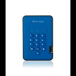 iStorage diskAshur2 256-bit 4TB USB 3.1 secure encrypted hard drive - Blue IS-DA2-256-4000-BE