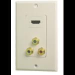 Calrad Electronics HDMI + RCA x 3 F/F HDMI + RCA x 3 HDMI + RCA x 3 White cable interface/gender adapter