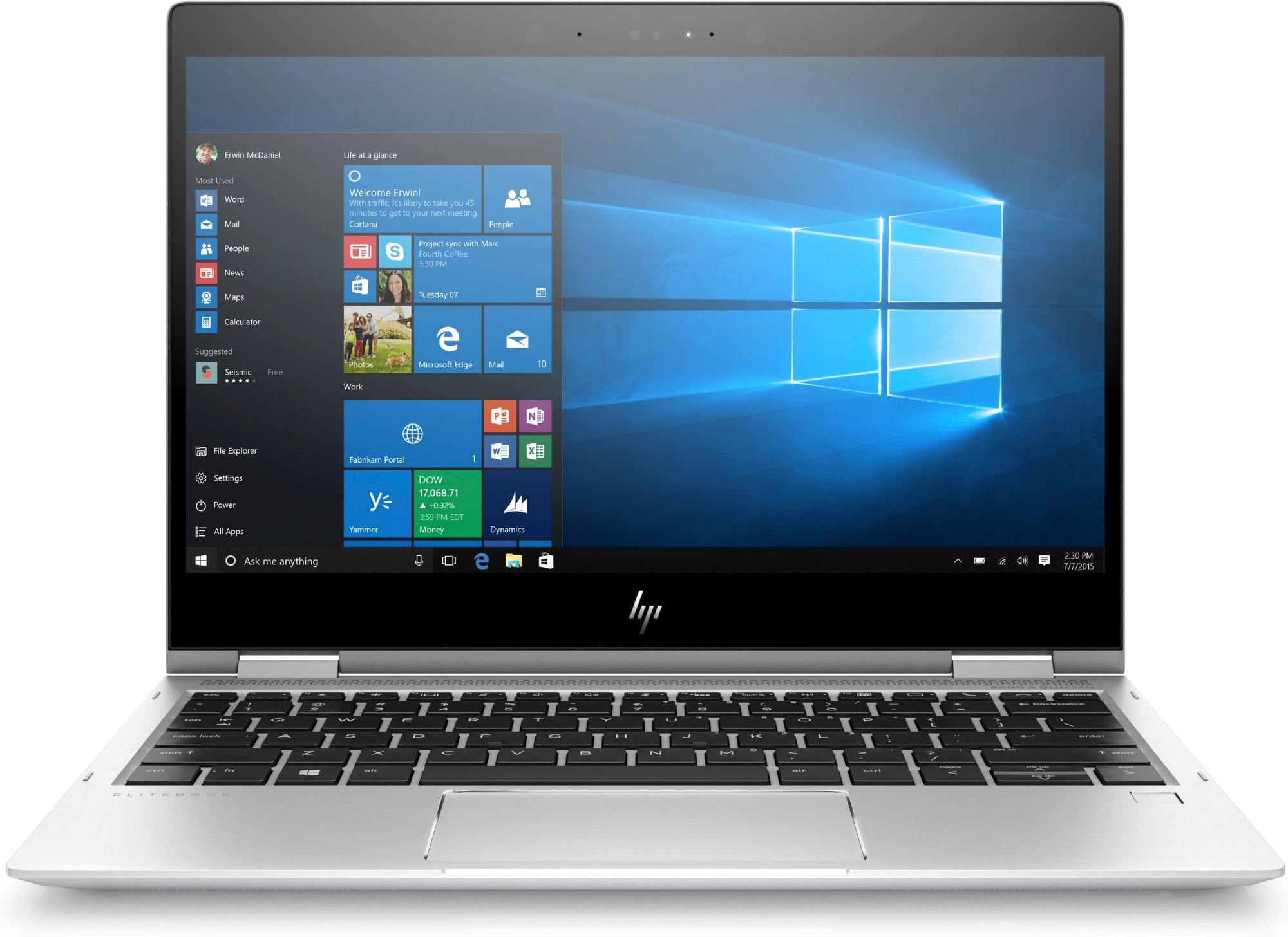 "HP EliteBook x360 1020 G2 Silver Notebook 31.8 cm (12.5"") 3840 x 2160 pixels Touchscreen 2.8 GHz 7th gen Intel® Core™ i7 i7-7600U"
