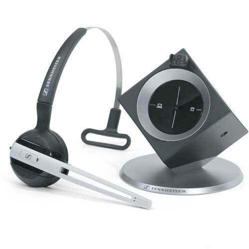 sennheiser dw office monaural wireless black silver mobile headset 45 in distributor wholesale. Black Bedroom Furniture Sets. Home Design Ideas