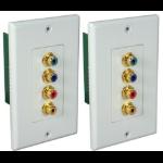 QVS RCA4AV-C5E outlet box White