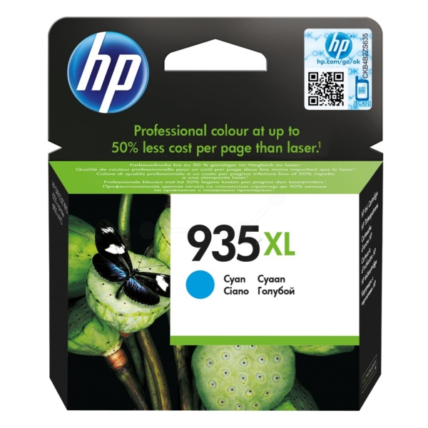 HP C2P24AE#301 (935XL) Ink cartridge cyan, 825 pages, 10ml