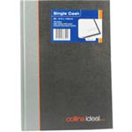 Collins Ideal Manuscript Book Casebound A5 Single Cash 192 Pages Black 461