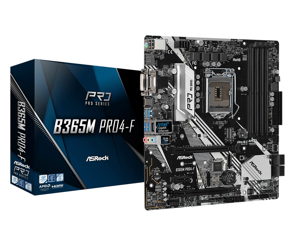 Asrock B365M PRO4-F LGA 1151 (Socket H4) micro ATX Intel B365