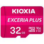 Kioxia Exceria Plus memory card 32 GB MicroSDHC UHS-I Class 10 LMPL1M032GG2
