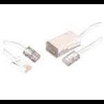 Videk BT / RJ45 0.5m 2 Pack 0.5m White telephony cable