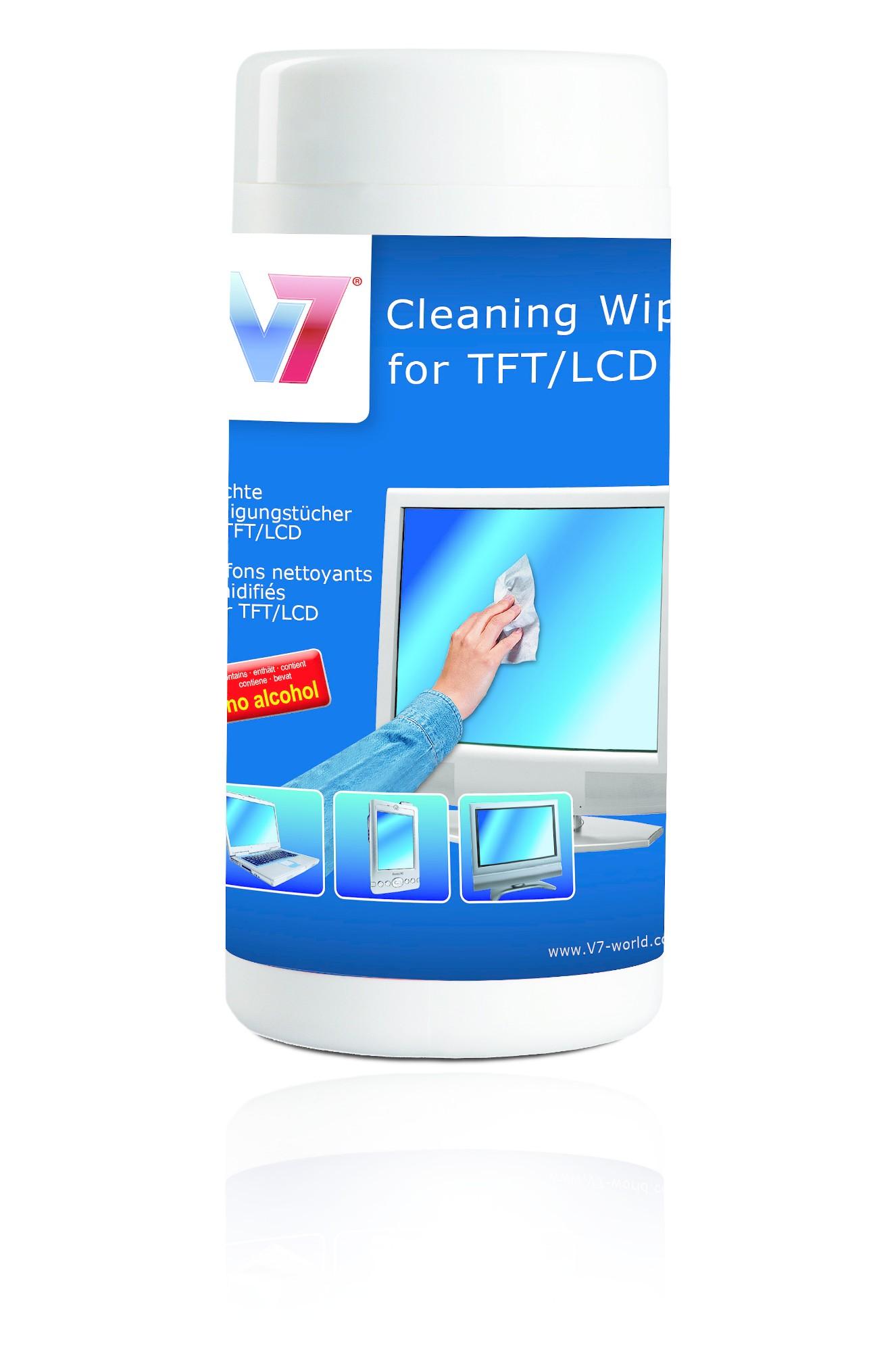 V7 VCL1513 computerreinigingskit Vochtige doekjes voor apparatuurreiniging LCD/TFT/Plasma