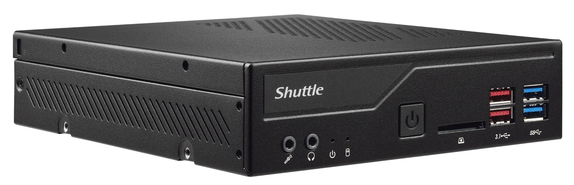 Shuttle XPС slim DH370 PC/workstation barebone Intel® H370 LGA 1151 (Socket H4) 1.3L sized PC Blac