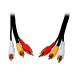 """Comprehensive 7.62m 3 x RCA m/m composite video cable 300"""" (7.62 m) Black"""