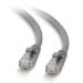 C2G 0.5m Cat5e Booted Unshielded (UTP) Network Patch Cable - Grey
