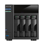 Asustor AS-204TE NAS Tower Ethernet LAN Black