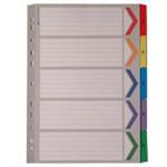 White Box WB MYLAR INDEX A4 1-5 MULTI