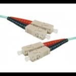 Hypertec 391782-HY fibre optic cable 0.5 m SC OM3 Aqua colour