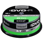 Intenso DVD-R 4.7GB, Printable, 16x 4.7GB DVD-R 25pc(s)