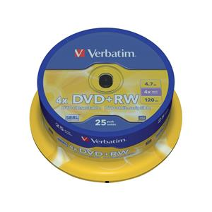 Verbatim DVD+RW Matt Silver 43489