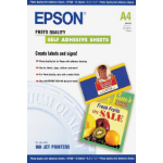 Epson Self-Adhesive Photo Paper - A4 - 10 Sheets