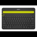 Logitech K480 mobile device keyboard Black Bluetooth