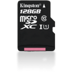 Kingston Technology 128GB microSDXC Class 10 UHS-I 45R Flash Card Far East Retail