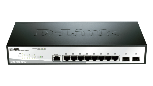 D-Link DGS-1210-10/ME L2 Gigabit Ethernet (10/100/1000) 1U Black,Grey network switch