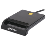 Manhattan 102049 smart card reader Indoor Black USB 2.0