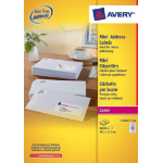 Avery Mini Address Labels, Laser, permanent, 38.1 x 21.2 mm