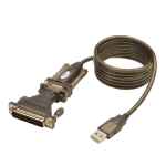 Tripp Lite USB to Serial Adapter Cable (USB-A to DB25 M/M), 1.52 m