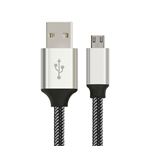 Astrotek 5m Micro USB Data Sync Charger Cable Cord Silver White Color for Samsung HTC Motorola Nokia