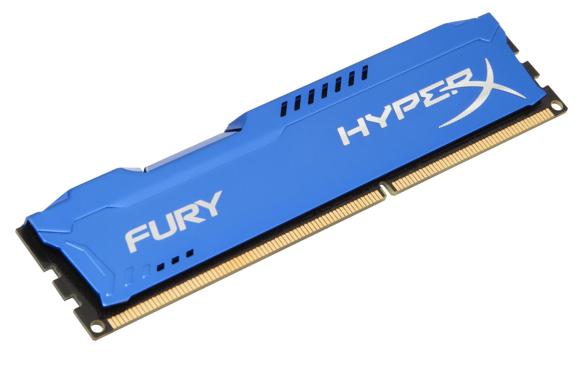 HyperX FURY Blue 8GB 1600MHz DDR3 módulo de memoria 1 x 8 GB