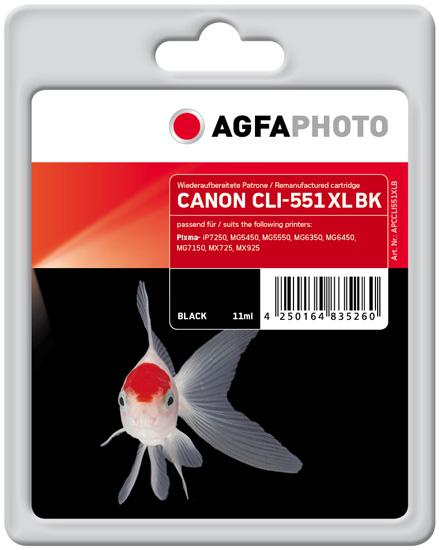 AgfaPhoto APCCLI551XLB Black ink cartridge