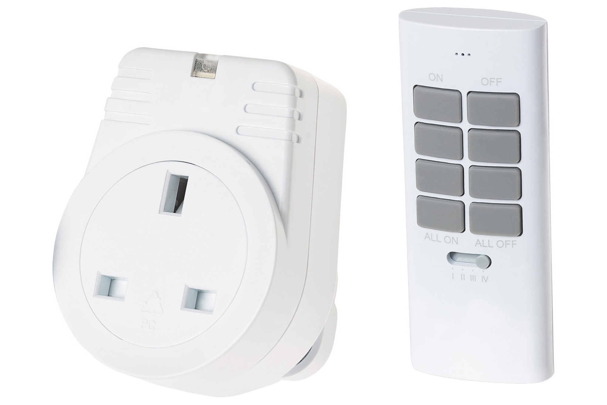MAPLIN ORB RF Remote Controlled Mains Plug Socket with 1 Remote Version S2 - White
