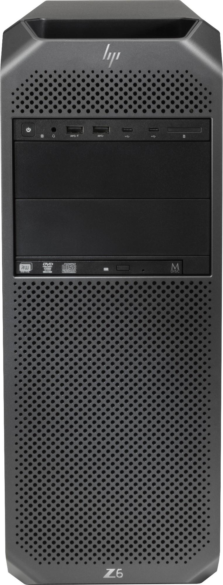 HP Z6 G4 Intel® Xeon® Bronze 3204 16 GB DDR4-SDRAM 256 GB SSD Tower Negro Puesto de trabajo Windows 10 Pro