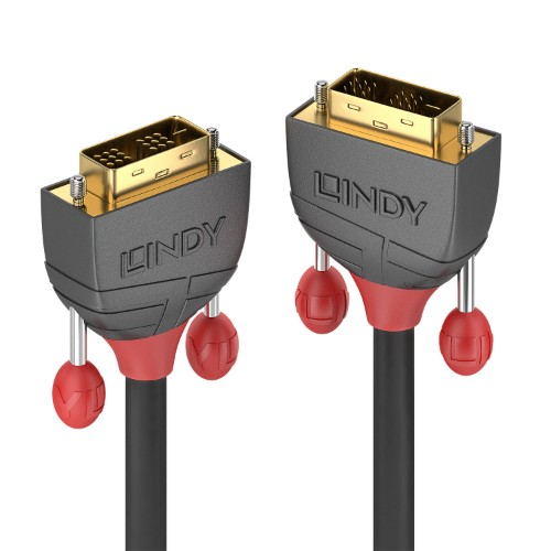 Lindy 36243 DVI cable 25 m DVI-D Black