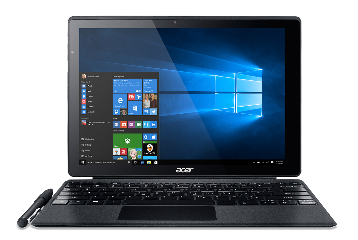 "Acer Aspire Switch Alpha 12 SA5-271P-56SZ 2.3GHz i5-6200U 12"" Touchscreen Aluminium,Black Hybrid (2-in-1)"