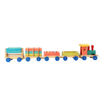 LEGLER Small Foot Children's Wooden Emil Train Playset, Unisex, Three Years and Above, Multi-colour (1128)