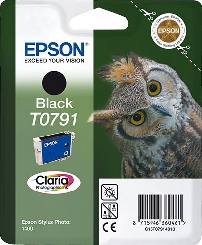Epson Owl Cartucho T0791 negro