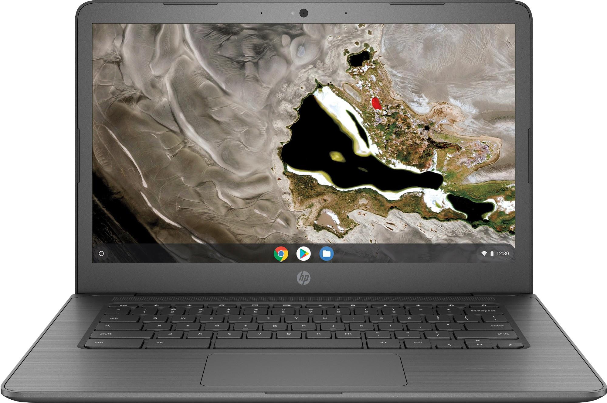 "HP Chromebook 14A G5 Grijs 35,6 cm (14"") 1920 x 1080 Pixels Touchscreen 7th Generation AMD A4-Series APUs A4-9120C 4 GB DDR4-SDRAM 32 GB eMMC"