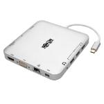 Tripp Lite U442-DOCK2-S USB-C Dock, Dual Display - 4K HDMI/mDP, VGA, USB 3.2 Gen 1, USB-A/C Hub, GbE, 60W PD Charging
