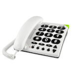 Doro PhoneEasy 311c Analog telephone White