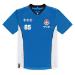 Nintendo Super Mario Bros. Mario 85 Sports Jersey T-Shirt, Male, Medium, Blue/White (TS876174NTN-M)