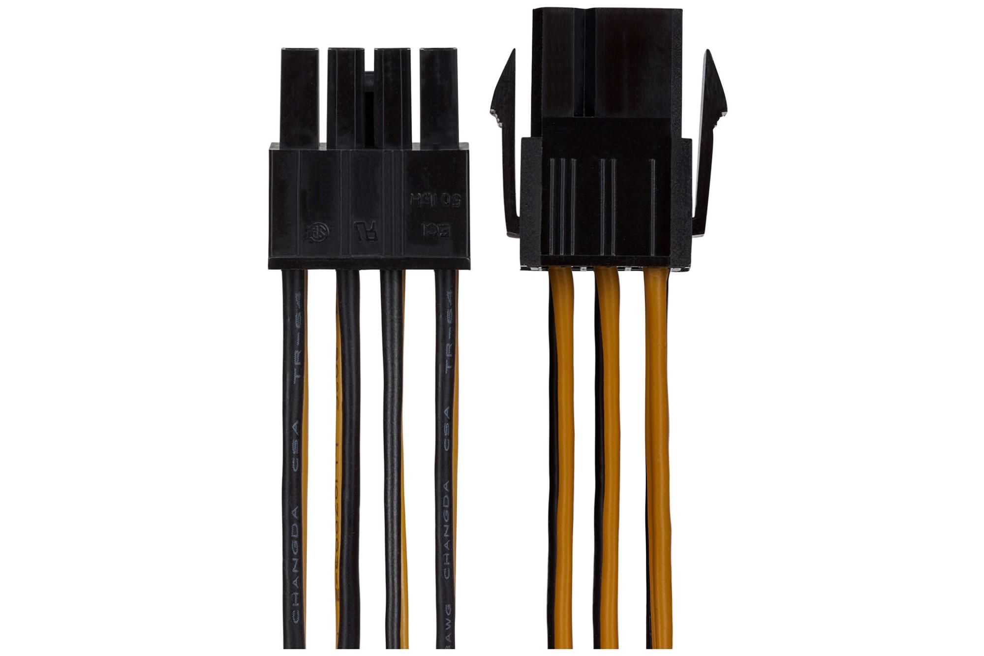 MAPLIN 6-pin PCIe Male to 8-pin ATX12V Female CPU Connector Lead 150mm