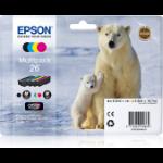 Epson C13T26164010 (26) Ink cartridge multi pack, 220pg + 3x300pg, 6ml + 3x5ml, Pack qty 4