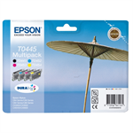 Epson C13T04454010 (T0445) Ink cartridge multi pack, 600pg + 3x250pg, 13ml+3x8ml, Pack qty 4