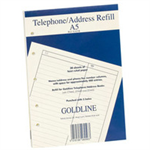 GOLDLINE ADDRESS BOOK RFL FNT A5 GA5/R