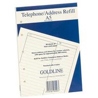 GOLDLINE ADDRESS BOOK RFL FNT A5 GA5/R