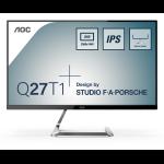 """AOC Q27T1 computer monitor 68.6 cm (27"""") 2560 x 1440 pixels Quad HD LED Silver"""