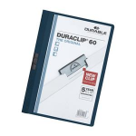 Durable DURACLIP  60 A4 PVC Blue report cover